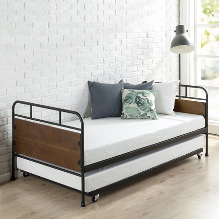 Zinus Eli Twin Daybed And Trundle Frame Set Walmart Com