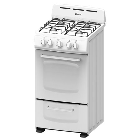 Avanti Gr020pow White 20 Inch Gas Range With Open Burners