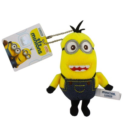 Stewart the Minion Small Stuffed Plush Keychain Charm