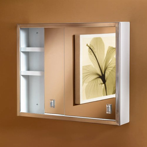 Jensen Medicine Cabinet Contempra 24W x 19H in. Surface Mount Medicine Cabinet B704850 by Lighthouse Distribution Corp