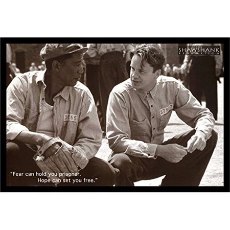 Buy Art For Less The Shawshank Redemption Movie Art Print Poster Tim Robbins Morgan Freeman Framed Photographic Print
