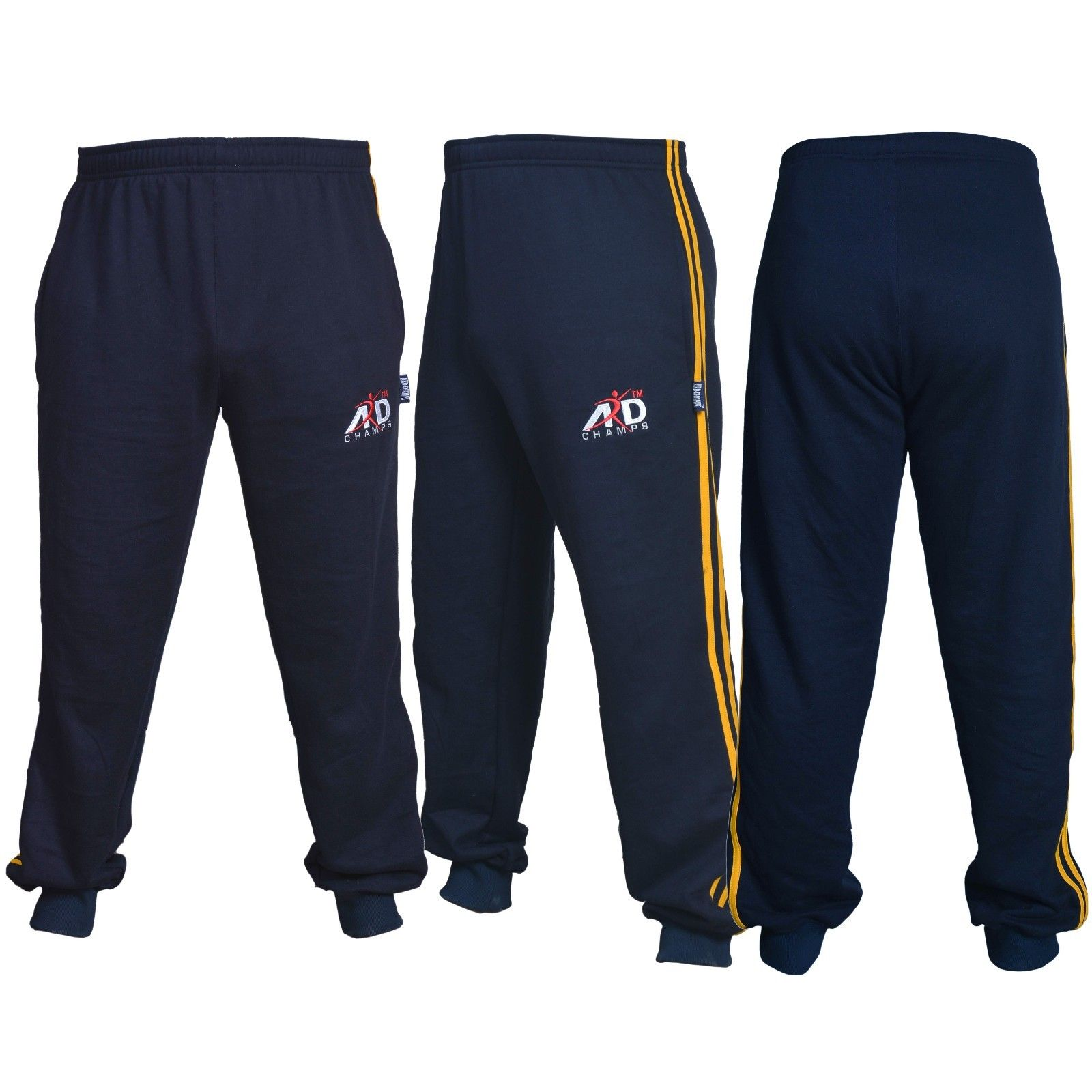 ARD CHAMPS™ Cotton Fleece Trouser MMA Gym Boxing Running Jogging Trousers Navy Blue Small