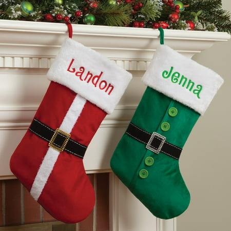 Personalized Elf, Santa Or Mrs. Claus Dress Christmas - Christmas Stocking Personalized