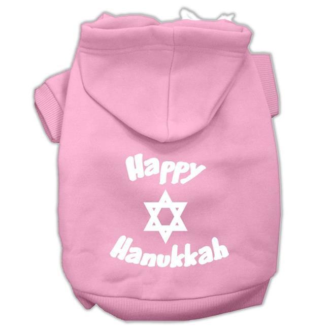 Happy Hanukkah Screen Print Pet Hoodies Light Pink Size Sm (10) - image 1 de 1