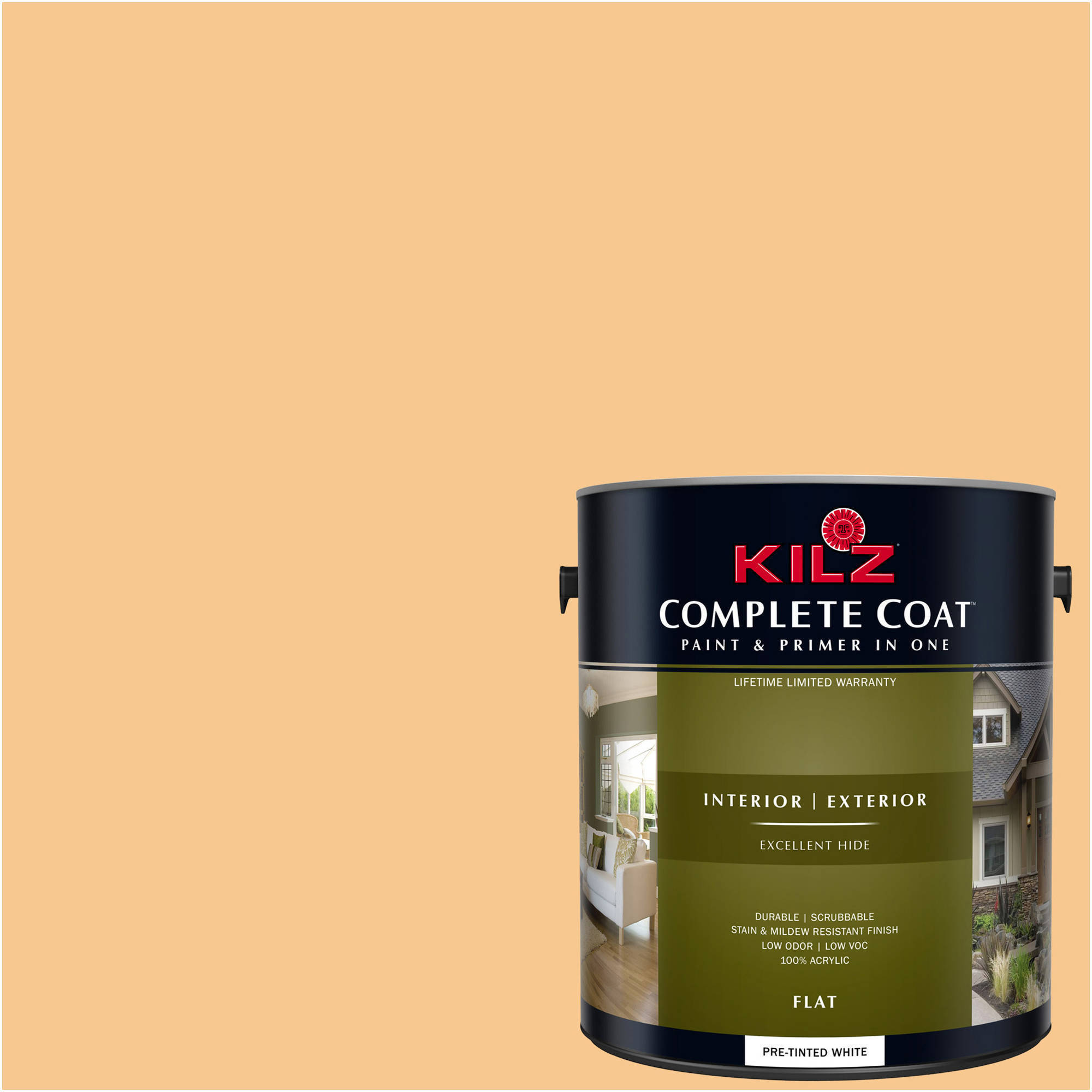 KILZ COMPLETE COAT Interior/Exterior Paint & Primer in One #LD270-01 Jolly