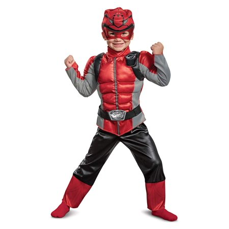 Beast Halloween Costumes (Boy's Red Ranger Muscle Halloween Costume - Beast)