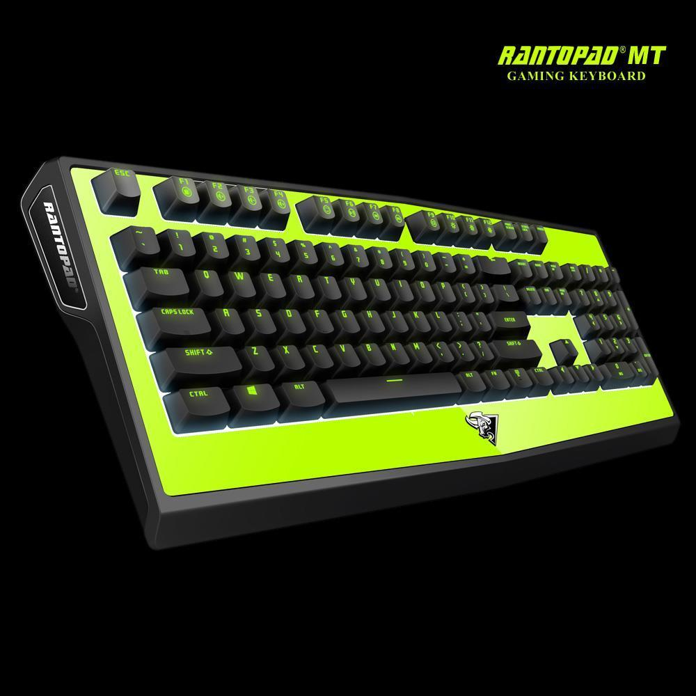 Rantopad MT Aegis Gaming Mechanical Ergonomic LED USB Wired Keyboard Keyclick