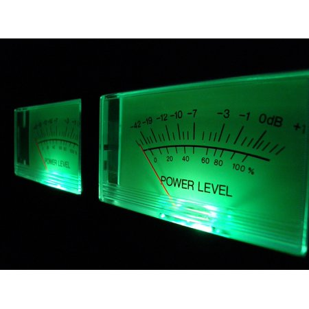 LAMINATED POSTER Vu Meter Vu Volume Level Analog Music Sound Audio Poster Print 24 x 36