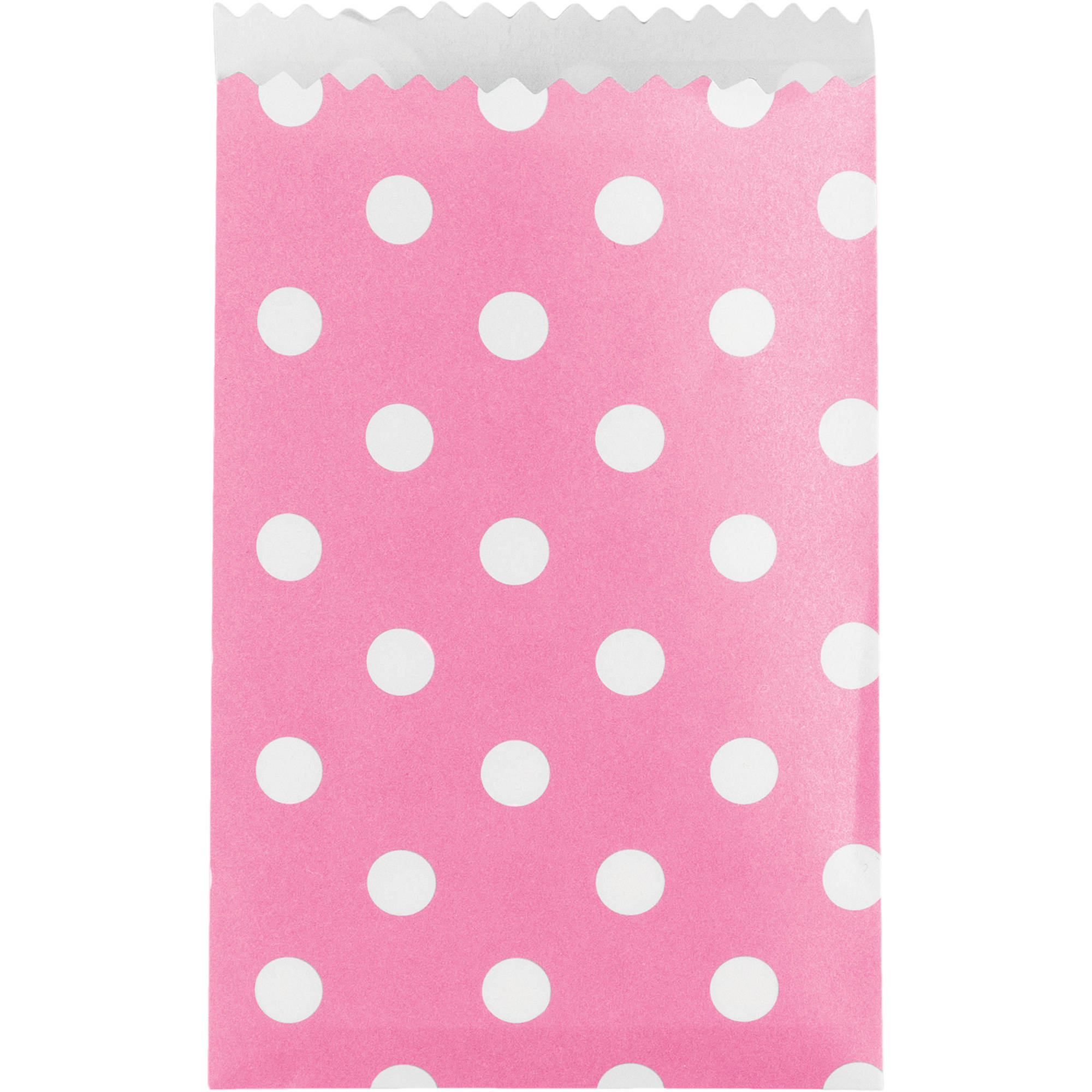 Small Candy Pink Dot Treat Bag, 20pk