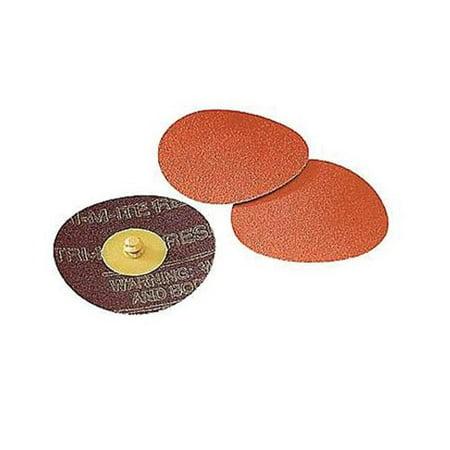 Abrasive  2 in. Roloc Disc 963G TR Attachment, 60 Grit - Orange (Disc Attachment)