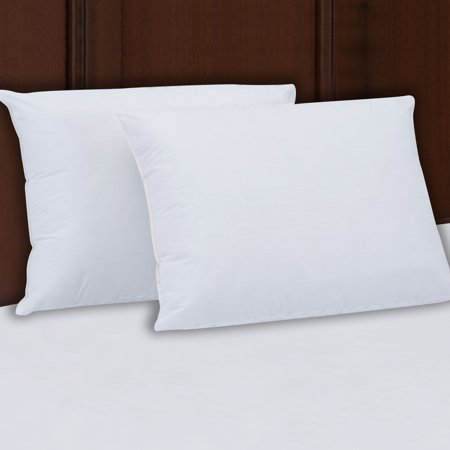 Mainstays 200TC Cotton Extra Firm Pillow Set of 2 in Multiple