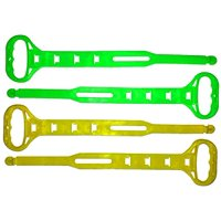 Set of 4 Heavy-Duty Cord Carry Strap Handle & Hanger - Organize Cords, Hoses, Ropes Yellow & Green (Set of 4)