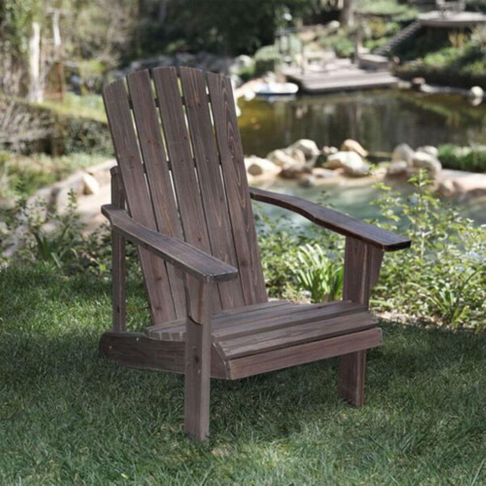 Lakewood Rustic Adirondack Chair Rustic Wine by Shine Company