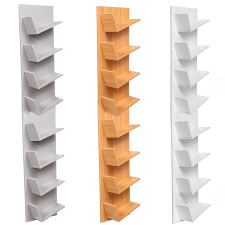 Wood CD DVD Rack Cabinets Bookcase Storage Shelf Shelves Bookshelf