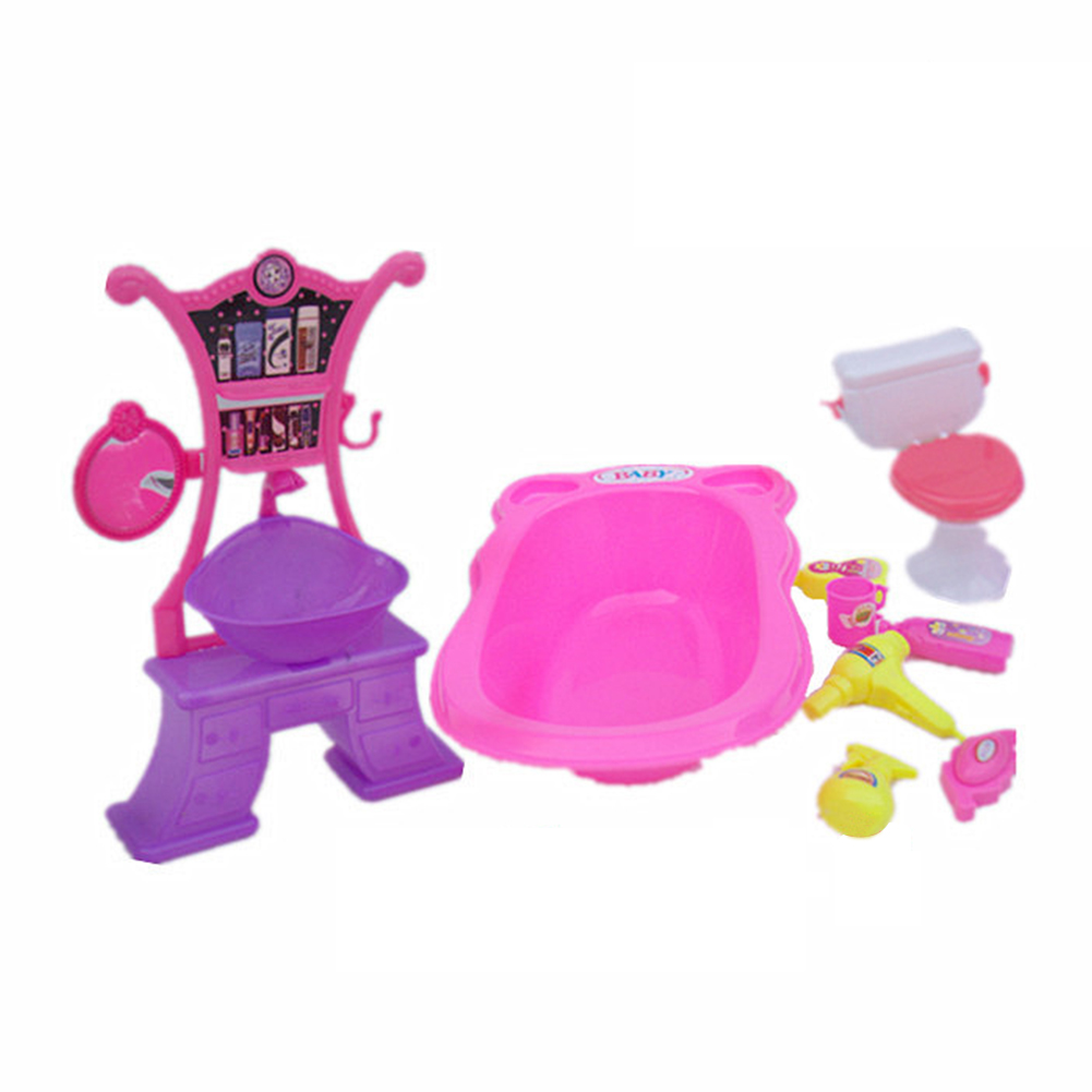 Dolls Accessories Pretend Play Furniture Set Toys for Dolls as Xmas Gifts for Kids bathroom