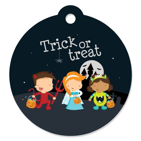 Halloween Tag Ideas (Trick or Treat - Die-Cut Halloween Party Favor Tags (Set of)