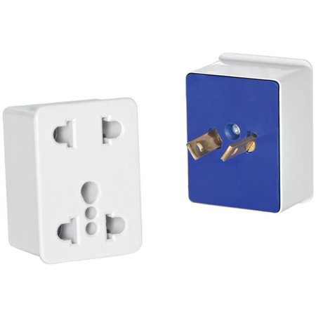 Dual-Outlet Adapter Plug for North & South America, Caribbean, Australia, Japan & New Zealand - White