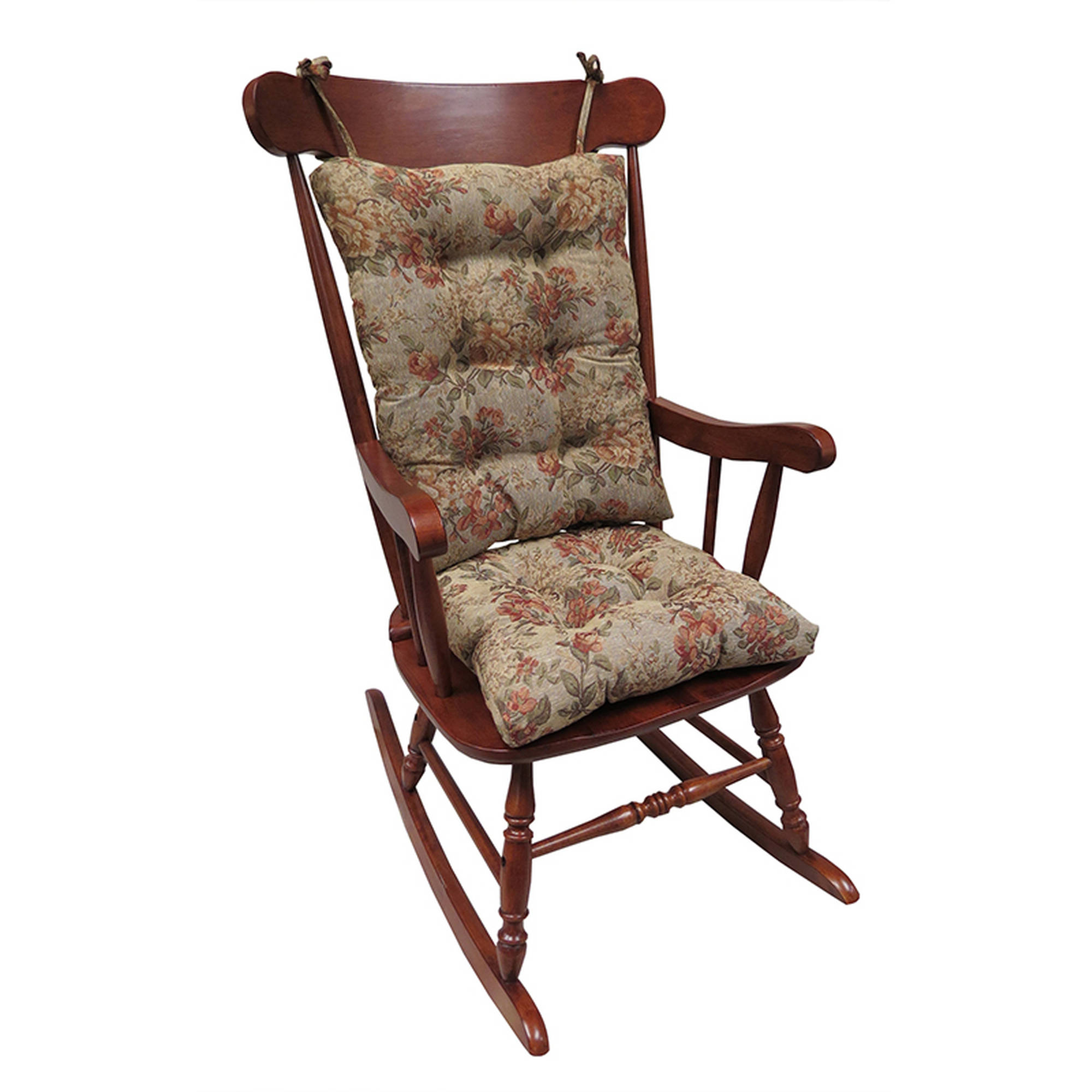 Gripper Jumbo Rocking Chair Cushions, Somerset Tapestry