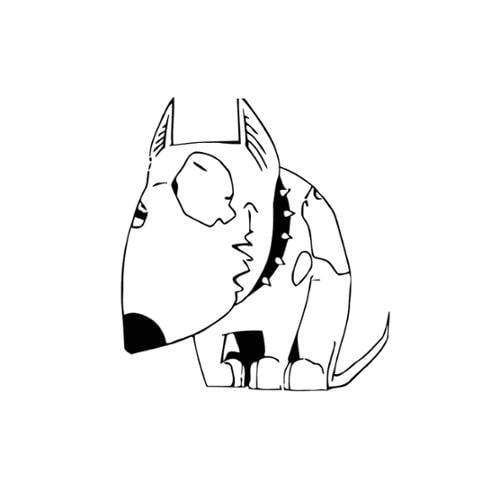 Vsgraphics llc Cartoon Bull Terrier Vinyl Wall Art