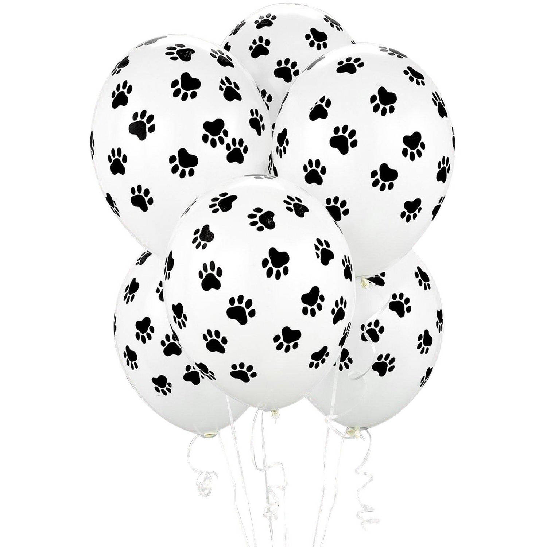 Paw Print Balloons, 6pk