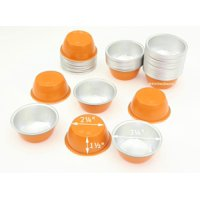 Disposable Aluminum Colored 4 ounce Ramekins-Creme Brulee Cups-Foil Cups-Dessert Cups- Pack of 24