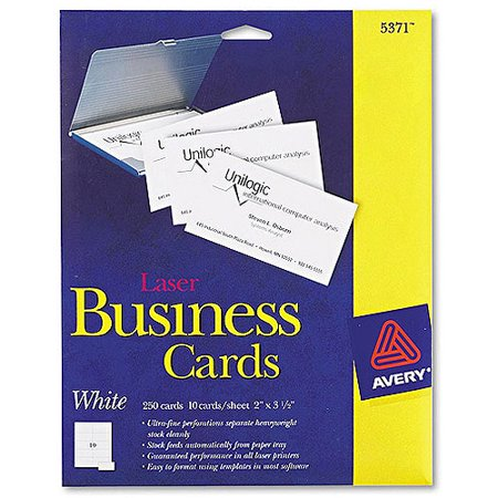Avery 5371 laser perforated business card walmartcom for Does walmart print business cards