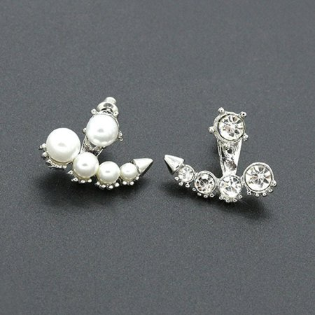 alloy jewelry accessories imitation pearl flash diamond studded Earrings 8316 - image 1 of 3