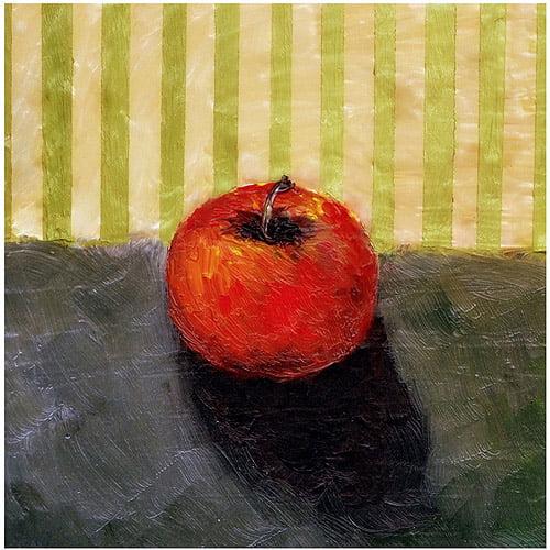 "Trademark Fine Art ""Red Apple Still Life"" Canvas Art by Michelle Calkins"