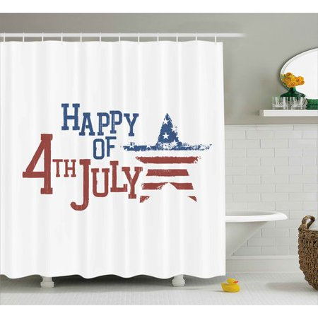- The Holiday Aisle 4th of July Patchwork Style American Stars and Stripes Cute Kids Baby Pride Pattern Shower Curtain