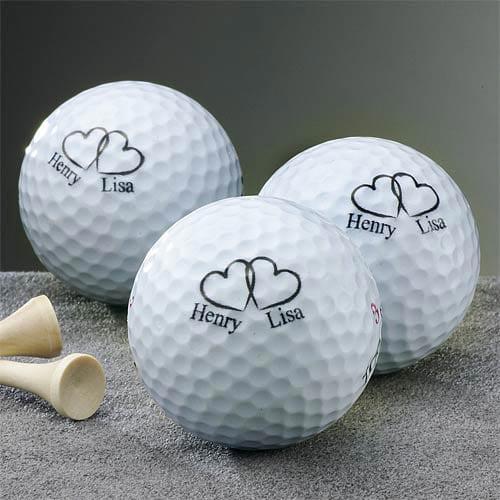 Wedding Gifts At Walmart: Personalized Wedding Golf Balls-Set Of 3
