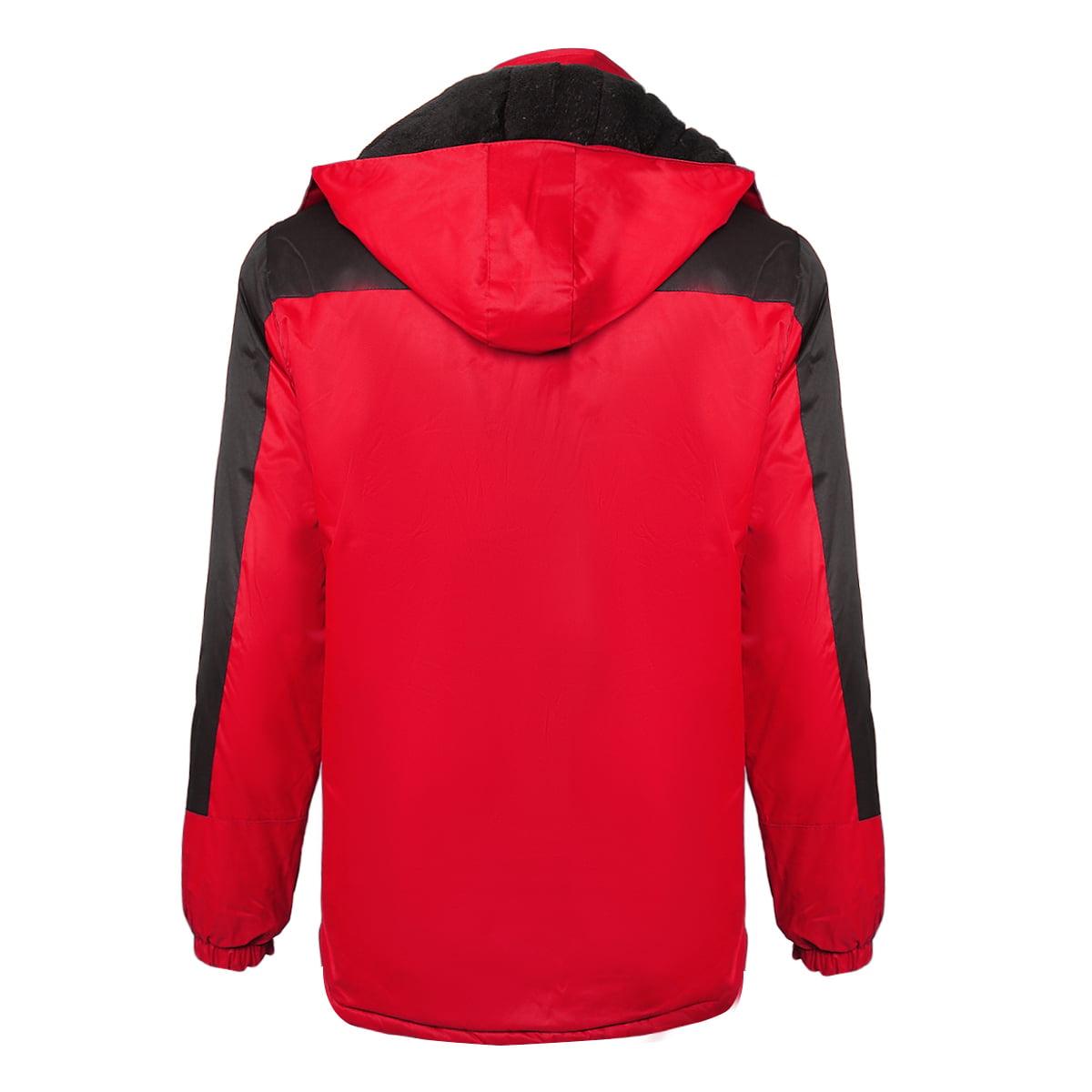 YOUTHUP Mens Winter Windbreaker Jacket Fleece Lined Thick Hood Waterproof Coat Outdoor Sport Jackets