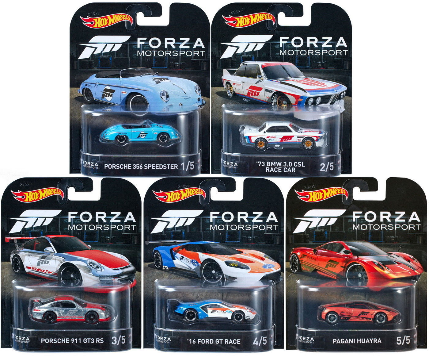 Hot Wheels 2017 Retro Entertainment FORZA Motorsport Set of 5 1 64 Scale Collectible Die Cast Toy Model Cars by
