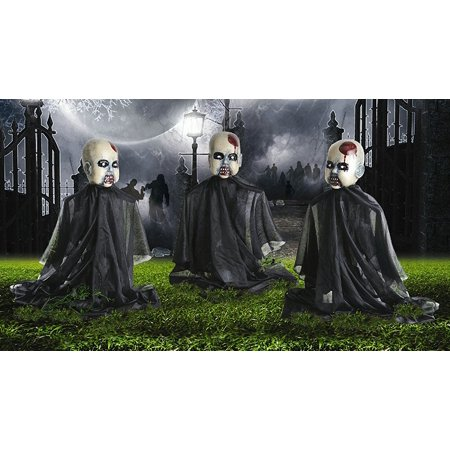 Zombie Baby Yard Stakes Halloween Decoration Set of 3 (Cheap Yard Decorations For Halloween)