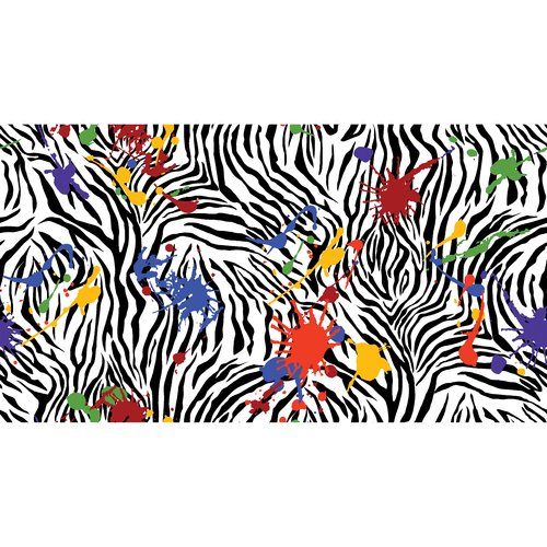 Flannel Zebra Spatter Fabric