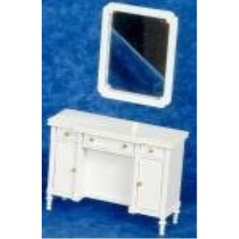 melody jane dollhouse white shabby chic dressing table miniature bedroom furniture ()