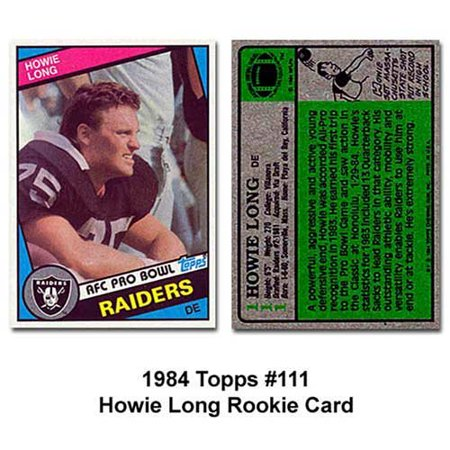 Oakland Raiders Howie Long 1984 Rookie Trading Card  Near Mint To Mint Condition By Topps Ship From Us
