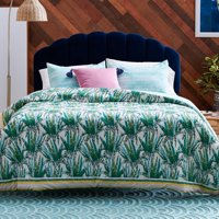 Watercolor Succulent 3 Piece Comforter Set by Drew Barrymore Flower Home