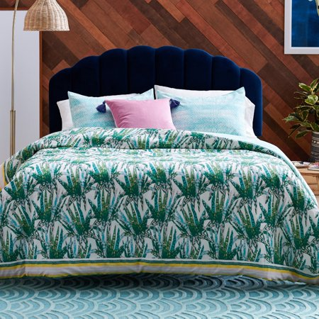 Watercolor Succulent 3 Piece Comforter Set by Drew Barrymore Flower Home ()