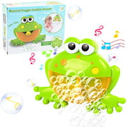 ZIOBLW Musical Frog Baby Bath Bubble Toy Automatic Bubble Blower, Upgraded Bubble Machine Bubble Maker Fun Bathtub Bubble Toys for Baby Kids Boys Girls Cute Bath Toys