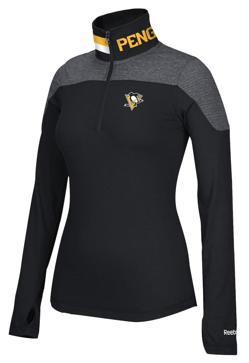 Pittsburgh Penguins Women's NHL Reebok 1 4 Zip Performance Pullover Jacket by Reebok