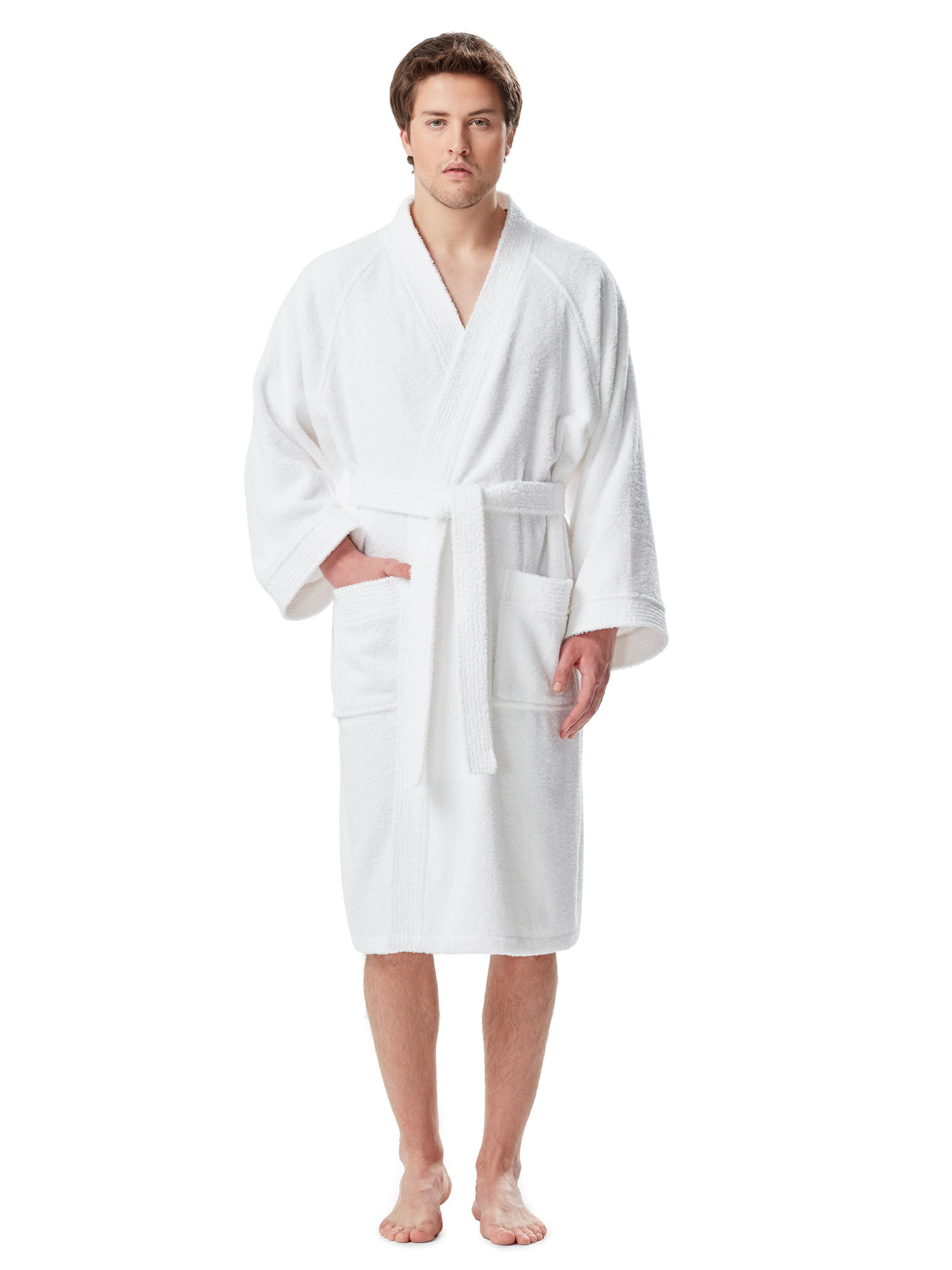 Arus - Men s Thick Full Ankle Length Hooded Turkish Cotton Bathrobe -  Walmart.com 0c519ef39