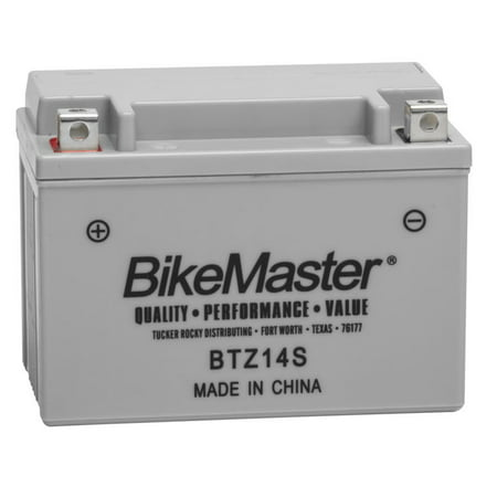 BikeMaster High-Performance Maintenance Free Battery BTZ14S for Honda VT1100T Shadow ACE Tourer 1998-2001 Factory activated.