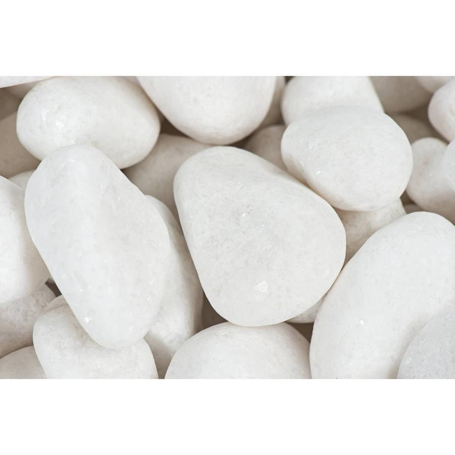 """Margo 20 lb Snow White Pebbles, 1"""" to 2"""""""