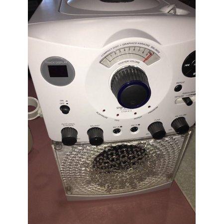 Singing Machine Classic SML285W Karaoke System White Disco Lights CD