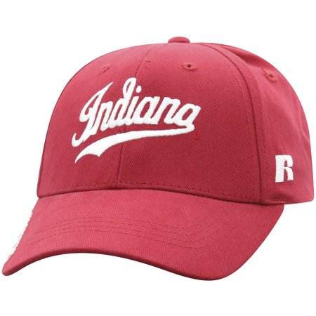 Indiana Pacers Cap - Men's Russell Crimson Indiana Hoosiers Endless Adjustable Hat - OSFA