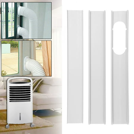 3Pcs Adjustable Window Kit Plate Drainage Board For Portable Air Conditioner ()