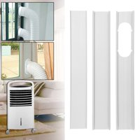3Pcs 1.9m Adjustable Window Slide Kit Plate Air Conditioner Wind Shield For Portable Air Conditioner