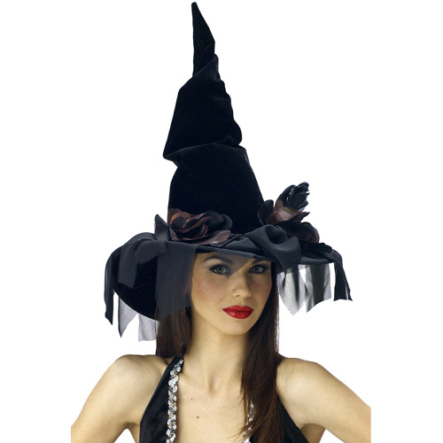 Deluxe Winding Adult Halloween Witch Hat