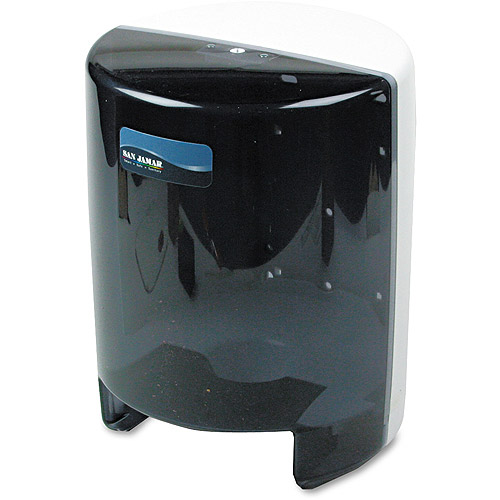 San Jamar Classic Center Pull Towel Dispenser, Black Pearl/White