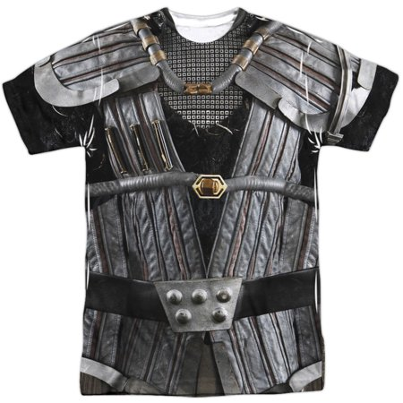 Star Trek Men's  Klingon Uniform Sublimation T-shirt White - High Quality Star Trek Uniform